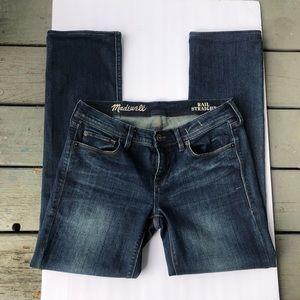 Madewell rail straight denim jeans women's 27x32